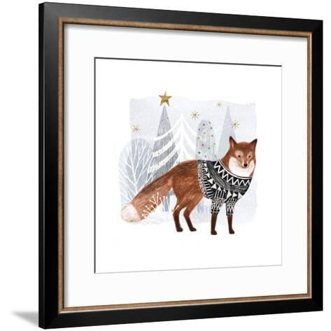 Cozy Woodland Animal I-Victoria Borges-Framed Art Print