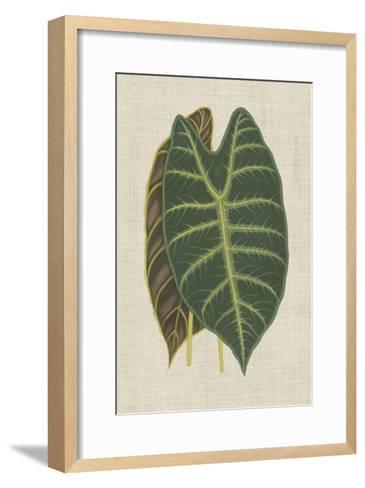 Leaves on Linen III-Unknown-Framed Art Print