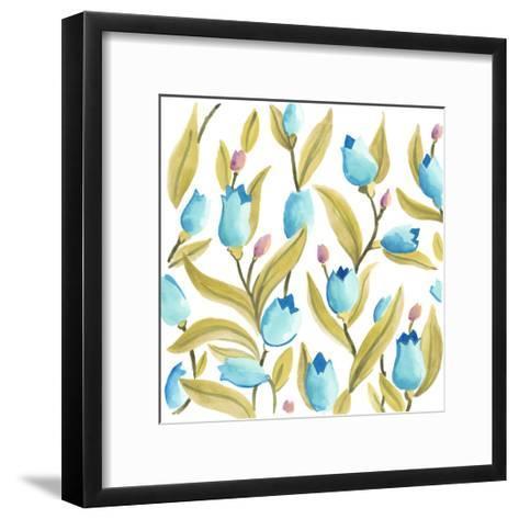 Abbey Floral Tiles VI-June Erica Vess-Framed Art Print