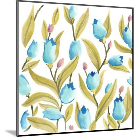 Abbey Floral Tiles VI-June Erica Vess-Mounted Art Print