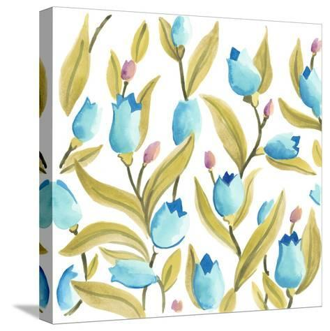 Abbey Floral Tiles VI-June Erica Vess-Stretched Canvas Print