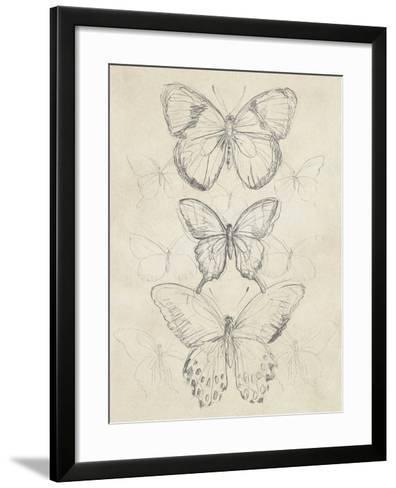 Vintage Butterfly Sketch I-June Erica Vess-Framed Art Print