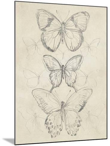 Vintage Butterfly Sketch I-June Erica Vess-Mounted Art Print