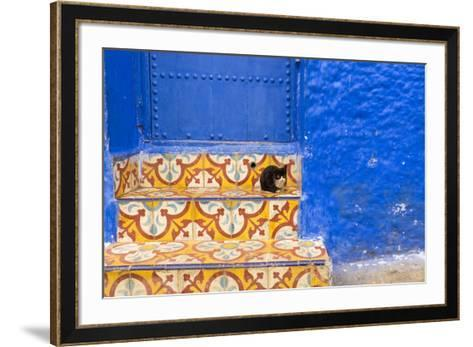 North Africa, Morocco, Traiditoional Moroccan architecture of Chefchaouen.-Emily Wilson-Framed Art Print