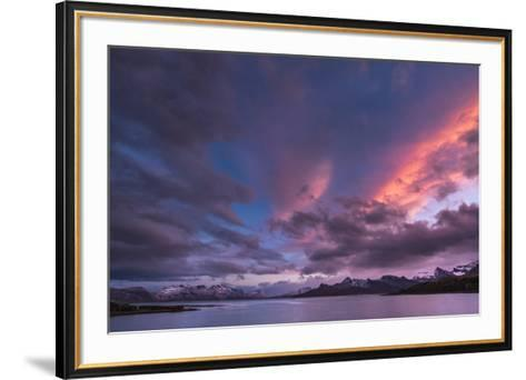 Antarctica, sunset, bay-George Theodore-Framed Art Print