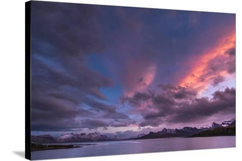 Antarctica, sunset, bay-George Theodore-Stretched Canvas Print