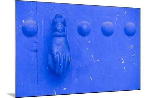 North Africa, Morocco, Traiditoional Moroccan door detail of Chefchaouen.-Emily Wilson-Mounted Photographic Print