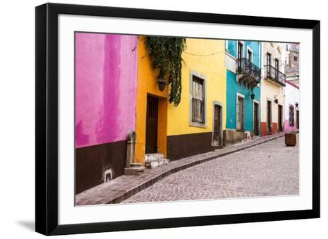 Mexico, Guanajuato, Quiet Street in Guanajuato-Hollice Looney-Framed Art Print