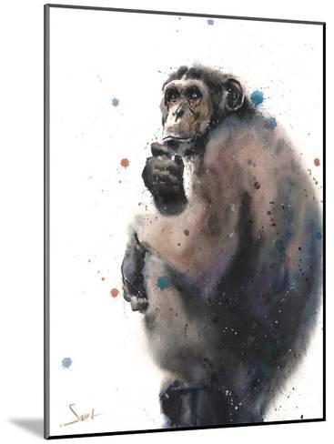 Chimpanzee-Eric Sweet-Mounted Art Print