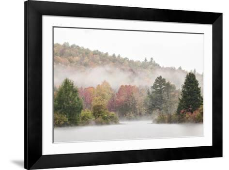 USA, New Hampshire, White Mountains, Fog drifting around Coffin Pond-Ann Collins-Framed Art Print