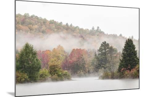 USA, New Hampshire, White Mountains, Fog drifting around Coffin Pond-Ann Collins-Mounted Photographic Print