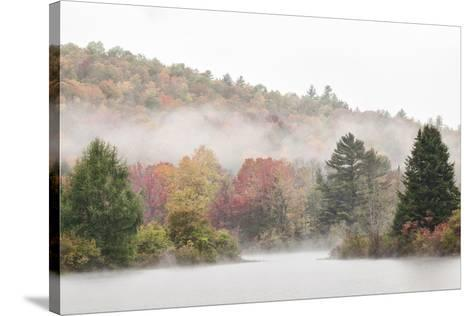 USA, New Hampshire, White Mountains, Fog drifting around Coffin Pond-Ann Collins-Stretched Canvas Print
