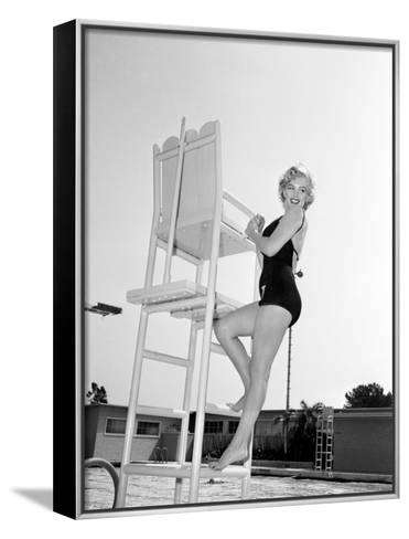 "Marilyn Monroe. ""Monkey Business"" [1952], Directed by Howard Hawks.--Framed Canvas Print"
