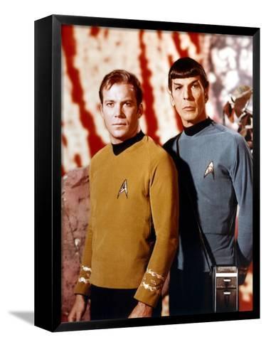 "Leonard Nimoy; William Shatner. ""Star Trek"" [1966].--Framed Canvas Print"
