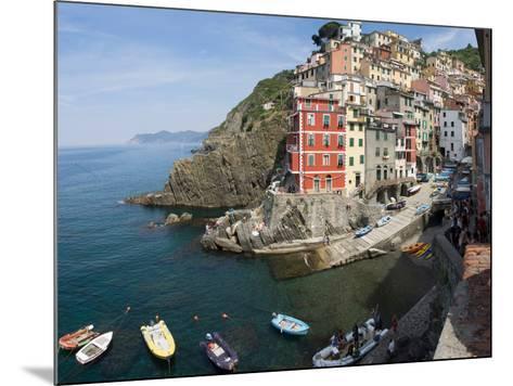 View of little harbor of Riomaggiore, La Spezia, Liguria, Italy--Mounted Photographic Print
