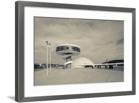 Tourists at The Oscar Niemeyer International Cultural Centre--Framed Art Print