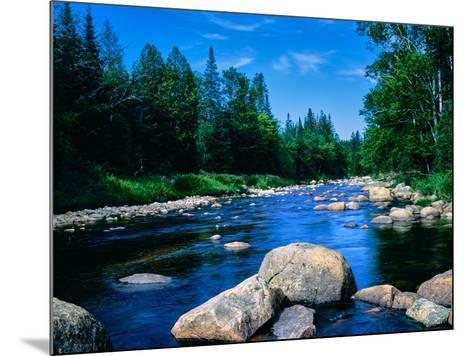 River flowing through a forest, Ausable River, Lake Placid, Adirondack Mountains, Essex County,...--Mounted Photographic Print