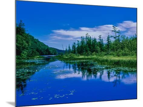 Reflection of clouds on water, Oxbow Lake, New York State Route 28, Speculator, Hamilton County...--Mounted Photographic Print