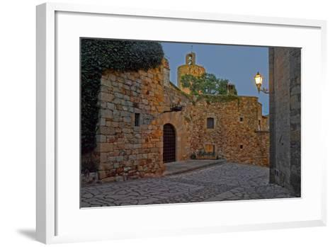 Medieval town of Pals in Costa Brava, Girona Province, Catalonia, Spain--Framed Art Print