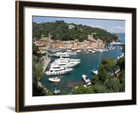 Elevated view of the Portofino, Liguria, Italy--Framed Art Print