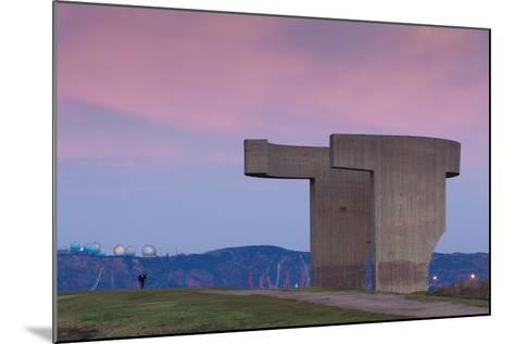 Sculpture on a hill, Elogio Del Horizonte, Cimadevilla, Gijon, Asturias Province, Spain--Mounted Photographic Print