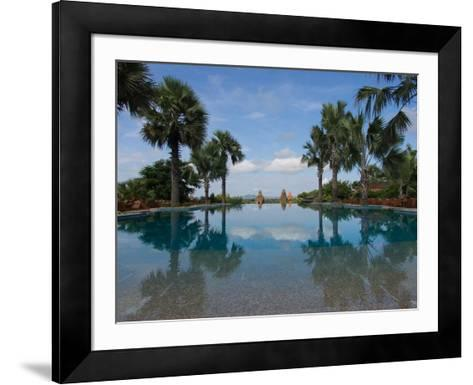 Infinity pool of Aureum Palace Hotel, Bagan, Mandalay Region, Myanmar--Framed Art Print