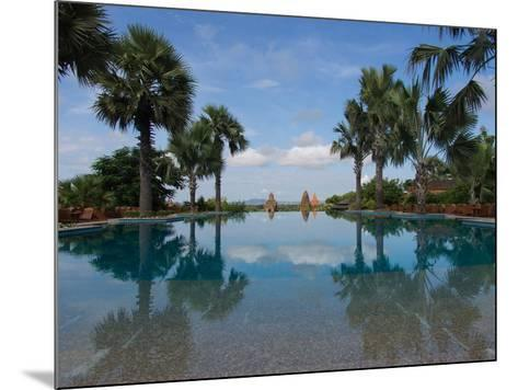 Infinity pool of Aureum Palace Hotel, Bagan, Mandalay Region, Myanmar--Mounted Photographic Print