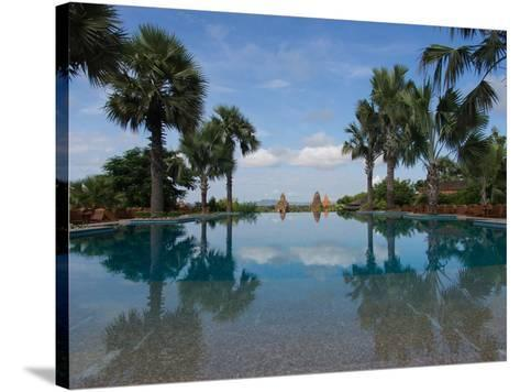 Infinity pool of Aureum Palace Hotel, Bagan, Mandalay Region, Myanmar--Stretched Canvas Print