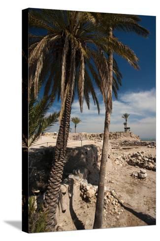 Ruins of ancient city, Megiddo National Park, Megiddo, North Coast, Israel--Stretched Canvas Print