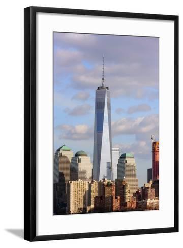 Skyscrapers in a city, Manhattan, New York City, New York State, USA--Framed Art Print