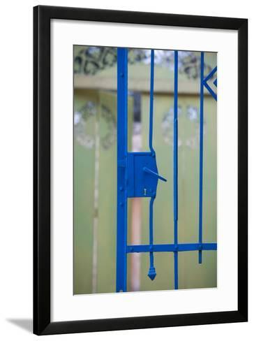 Close-up of a gate, Ein Hod, North Coast, Israel--Framed Art Print