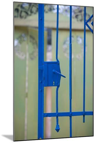 Close-up of a gate, Ein Hod, North Coast, Israel--Mounted Photographic Print