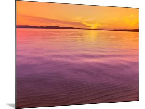 Scenic view of lake at dusk, Sand Point, Pictured Rocks National Lakeshore, Upper Peninsula, Alg...--Mounted Photographic Print