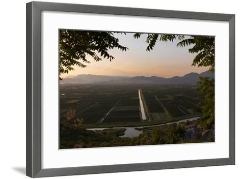near Staseviki, Dalmatia, Croatia. Agricultural landscape.--Framed Art Print