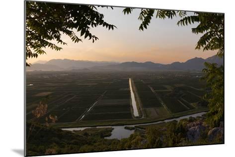 near Staseviki, Dalmatia, Croatia. Agricultural landscape.--Mounted Photographic Print