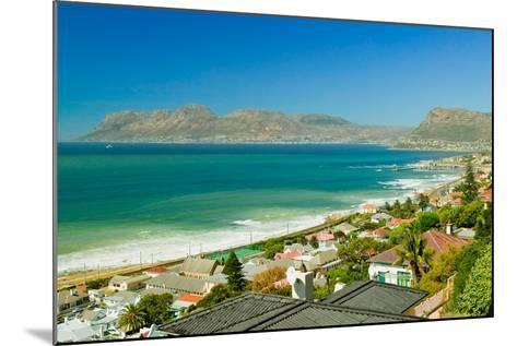 Elevated view of False Bay and Indian Ocean, overlooking St. James and Fish Hoek, outside of Cap...--Mounted Photographic Print