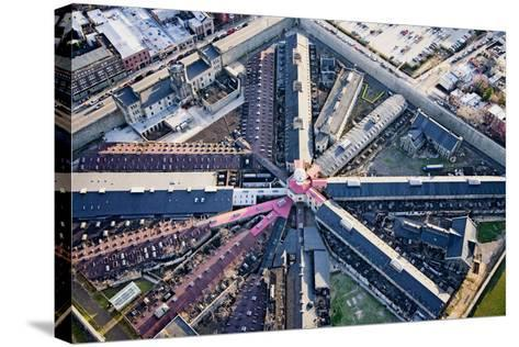 Aerial view of factory triangular pattern in Philadelphia, Pennsylvania--Stretched Canvas Print