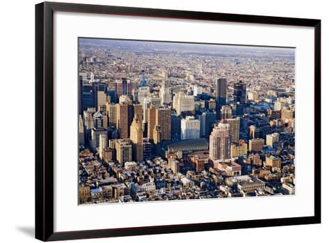Aerial sunset views of Philiadelphia, Pennsylvania, the City of Brotherly Love--Framed Art Print