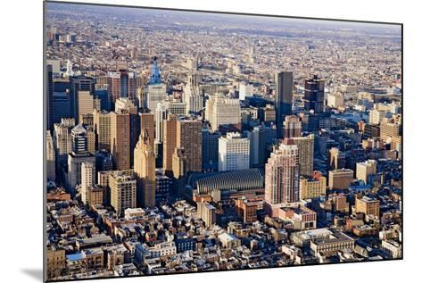 Aerial sunset views of Philiadelphia, Pennsylvania, the City of Brotherly Love--Mounted Photographic Print