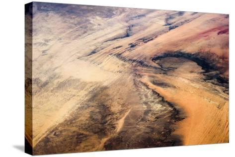 Satellite view of desert area, New Valley Governorate, Egypt,--Stretched Canvas Print
