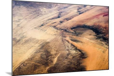 Satellite view of desert area, New Valley Governorate, Egypt,--Mounted Photographic Print