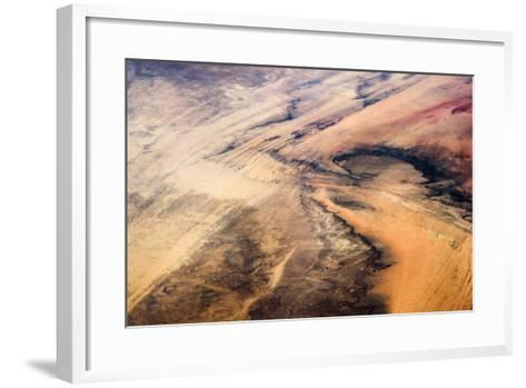 Satellite view of desert area, New Valley Governorate, Egypt,--Framed Art Print