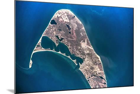 Satellite view of Nantucket Island, Cape Coad, Massachusetts, USA--Mounted Photographic Print