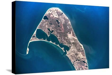 Satellite view of Nantucket Island, Cape Coad, Massachusetts, USA--Stretched Canvas Print
