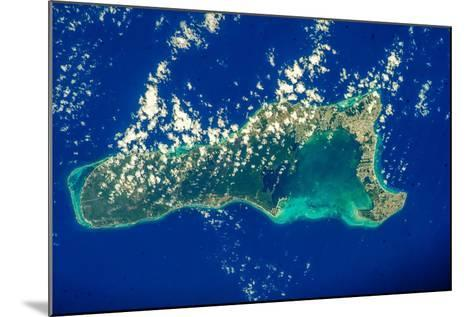 Satellite view of Grand Cayman--Mounted Photographic Print