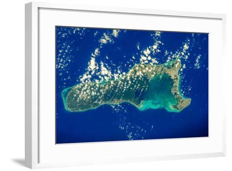 Satellite view of Grand Cayman--Framed Art Print