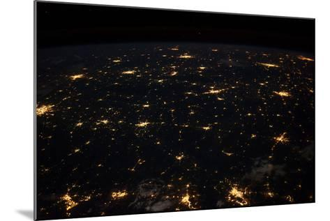 Night time satellite image of Cities in Gulf of Mexico, North America--Mounted Photographic Print