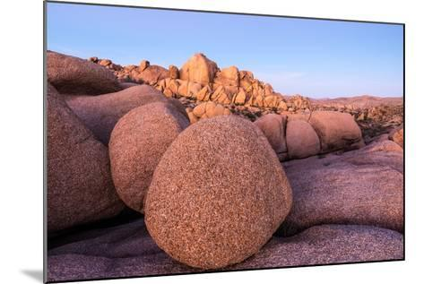 Rock formations on a landscape, Joshua Tree National Park, California, USA--Mounted Photographic Print