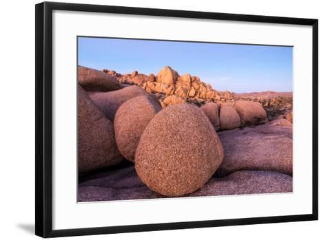 Rock formations on a landscape, Joshua Tree National Park, California, USA--Framed Art Print