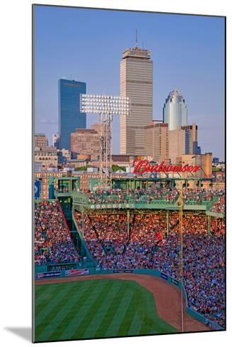 Boston Skyline with view of Historic Fenway Park, Boston Red Sox, Boston, Ma., USA, May 20, 2010...--Mounted Photographic Print